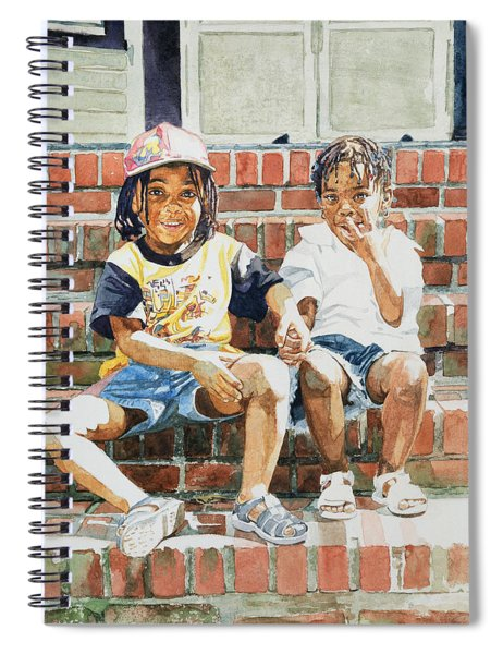 On The Front Step Spiral Notebook