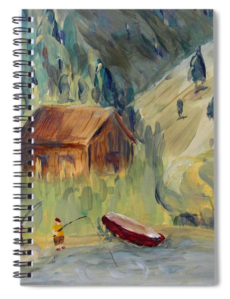 On The Lake Spiral Notebook