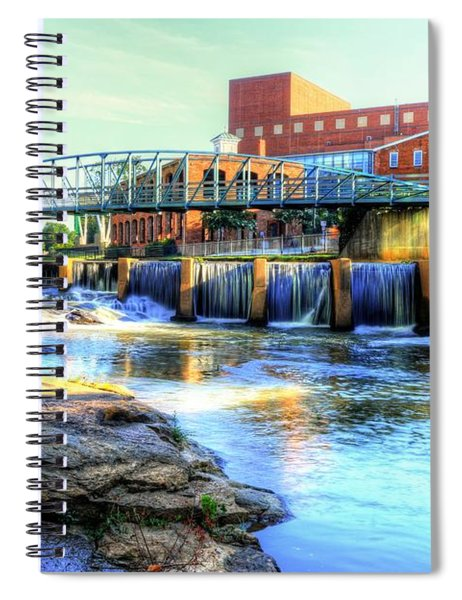 On The Reedy River In Greenville Spiral Notebook