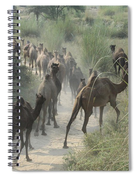 On The Road To Pushkar Spiral Notebook