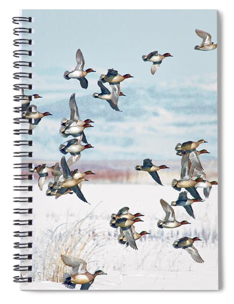 On The Wing Spiral Notebook