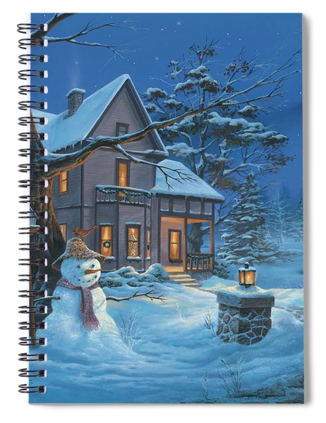 Once Upon A Winter's Night Spiral Notebook