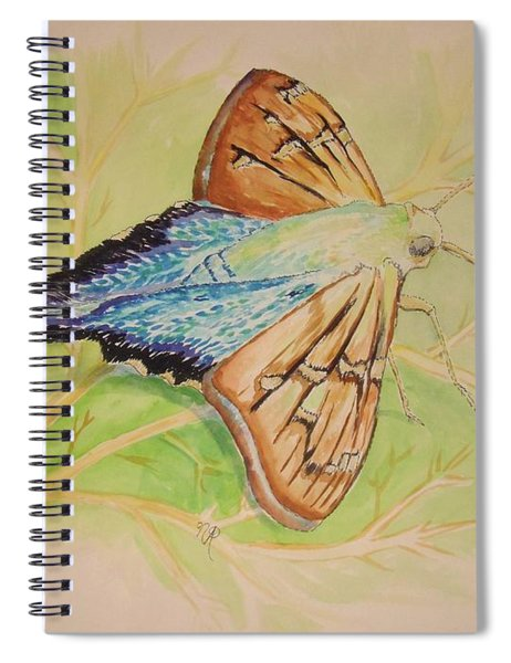 One Day In A Long-tailed Skipper Moth's Life Spiral Notebook
