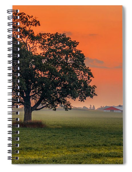 Spiral Notebook featuring the photograph One Fine Morning by Garvin Hunter