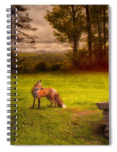 One Red Fox Spiral Notebook