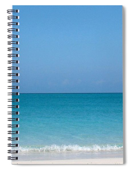 Spiral Notebook featuring the photograph Grace Bay by Patti Whitten