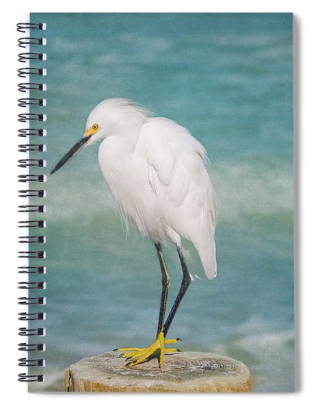 One With Nature - Snowy Egret Spiral Notebook