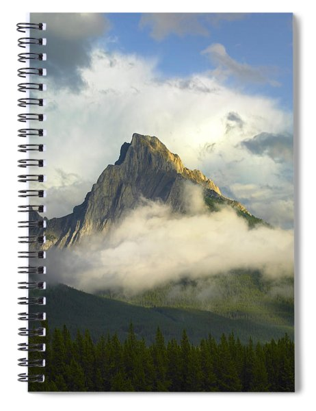 Opal Range In Fog Kananaskis Country Spiral Notebook