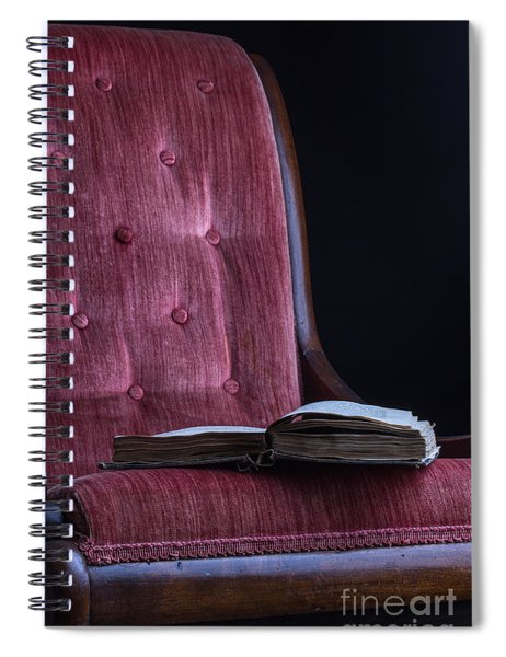 Open Book On Vintage Chair Spiral Notebook