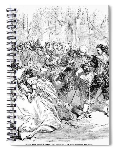 Opera La Traviata, 1856 Spiral Notebook