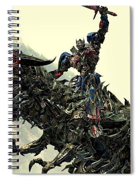Optimus Prime Riding Grimlock Spiral Notebook
