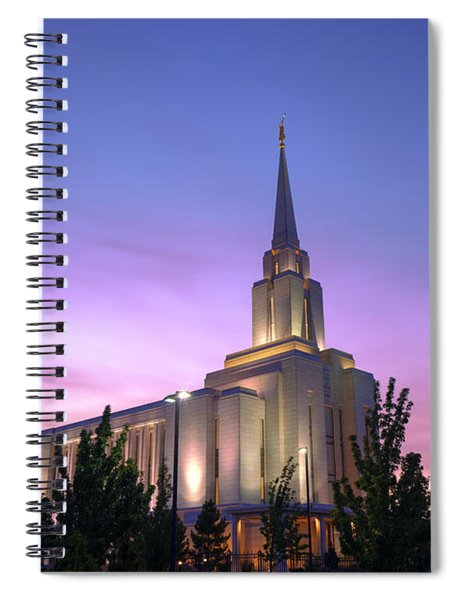 Oquirrh Mountain Temple Iv Spiral Notebook