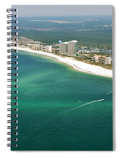 Looking N W Across Perdio Pass To Gulf Shores Spiral Notebook