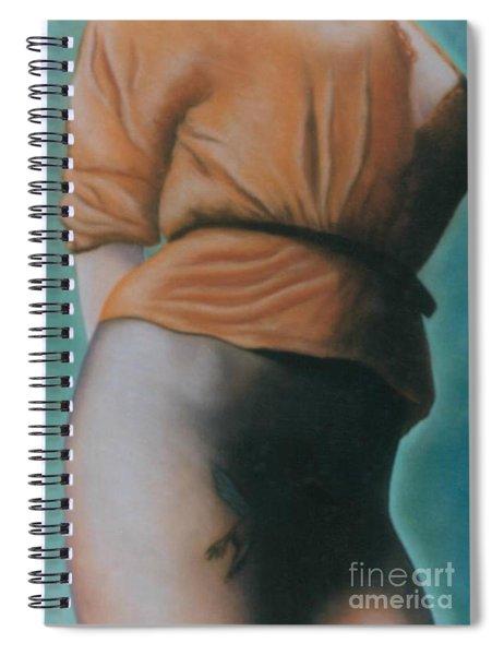 Orange Blouse Spiral Notebook