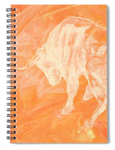 Orange Bull Negative Spiral Notebook
