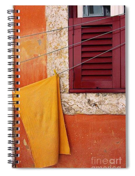 Orange Cloth  Spiral Notebook