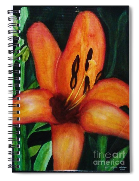 Beautiful Lily Flower Spiral Notebook
