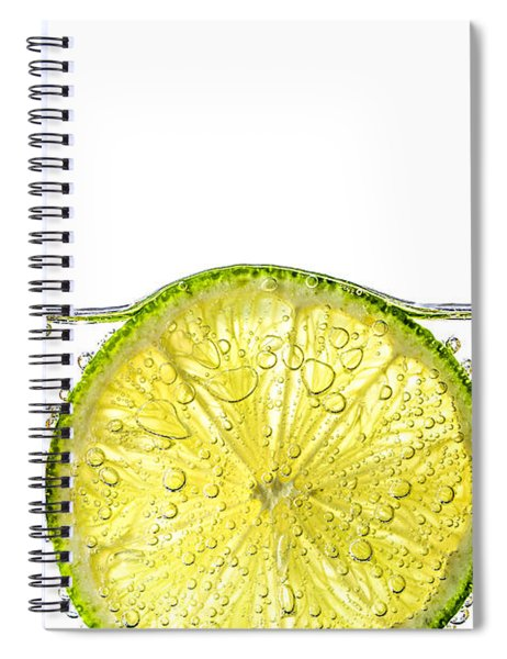 Orange Lemon And Lime Slices In Water Spiral Notebook