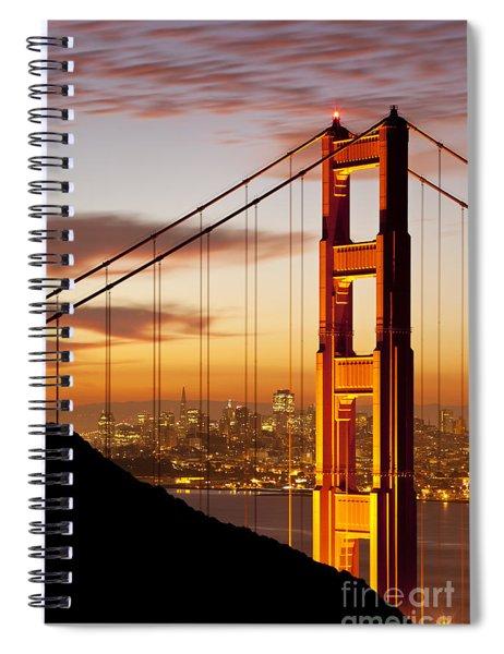 Spiral Notebook featuring the photograph Orange Light At Dawn by Brian Jannsen
