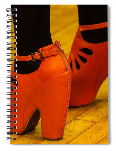 Spiral Notebook featuring the photograph Orange Pair by Ed Gleichman