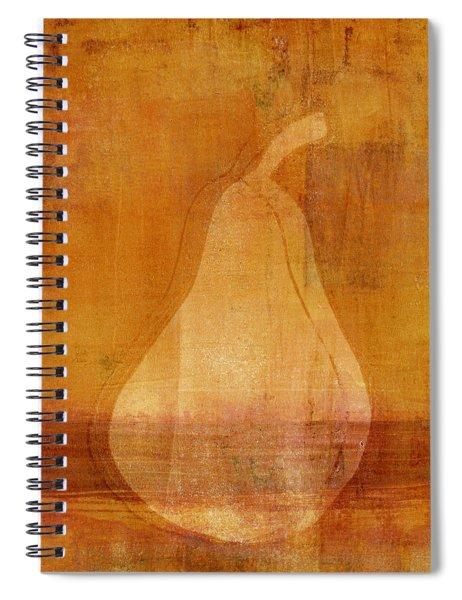 Orange Pear Monoprint Spiral Notebook