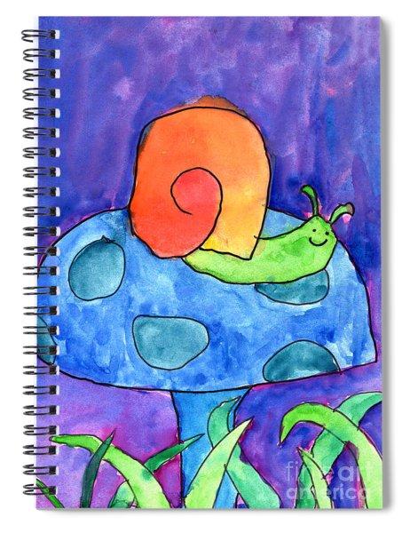 Orange Snail Spiral Notebook