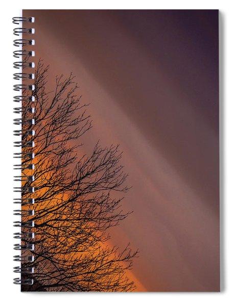 Orange Sunrise Spiral Notebook