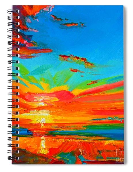 Orange Sunset Landscape Spiral Notebook