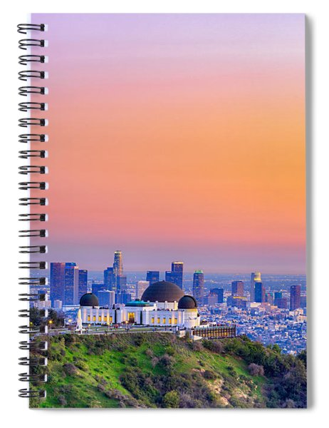 Orangesicle Griffith Observatory Spiral Notebook