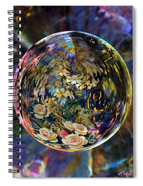 Orb Of Roses Past Spiral Notebook