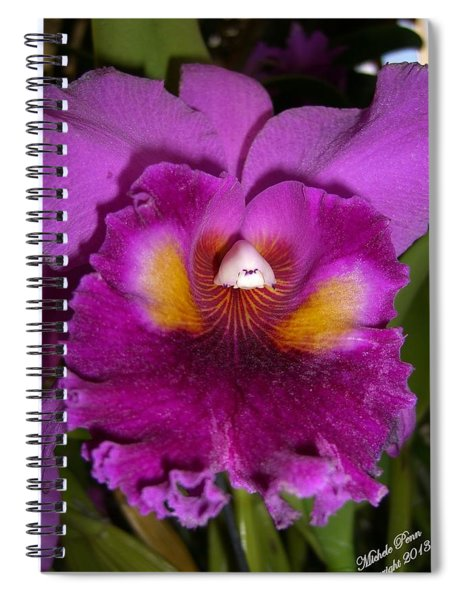Orchid Flames Spiral Notebook