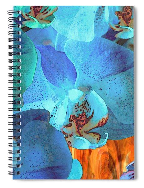 Orchid Cascade Spiral Notebook