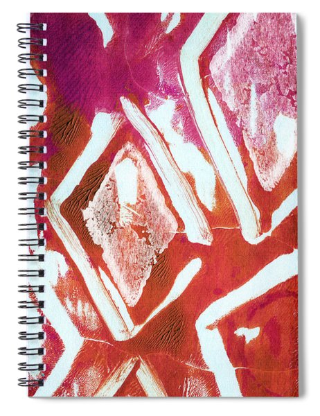 Orchid Diamonds- Abstract Painting Spiral Notebook