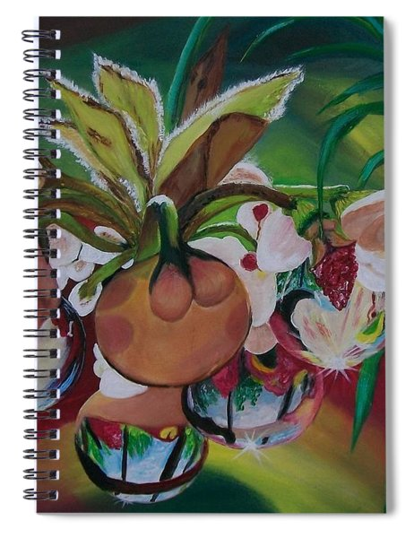 Orchids In Raindrop Reflections Spiral Notebook