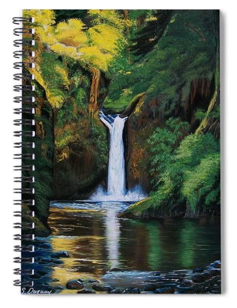 Oregon's Punchbowl Waterfalls Spiral Notebook