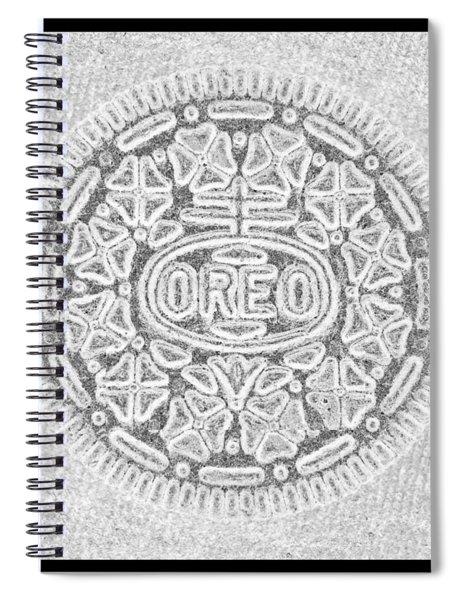 Oreo In Grey Spiral Notebook