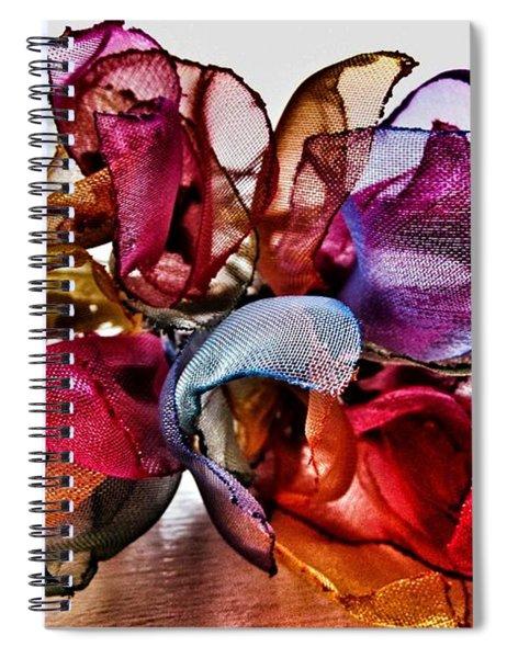 Organza Petals Spiral Notebook