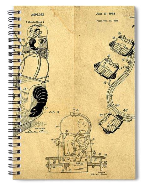 Original Patent For Robot Amusement Park Ride Spiral Notebook
