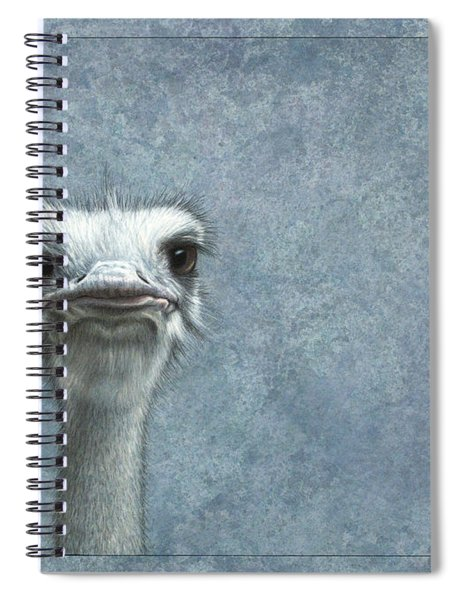Spiral Notebook featuring the painting Ostriches by James W Johnson
