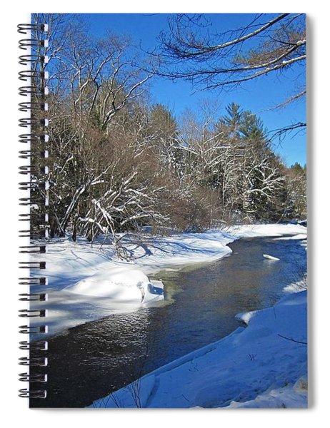 Otter Brook In Winter Spiral Notebook