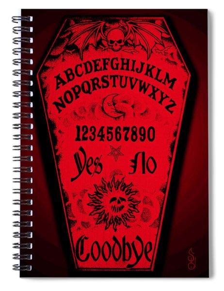Ouija Coffin Spiral Notebook