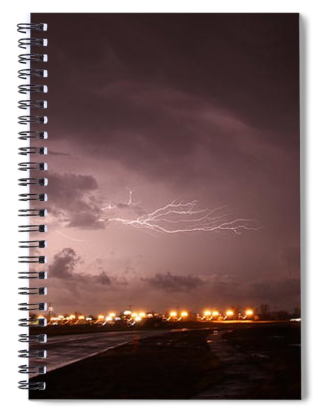Spiral Notebook featuring the photograph Our 1st Severe Thunderstorms In South Central Nebraska by NebraskaSC