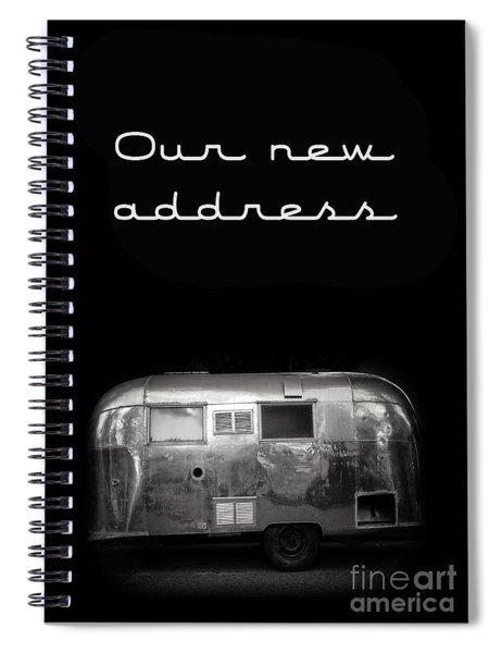 Our New Address Announcement Card Spiral Notebook
