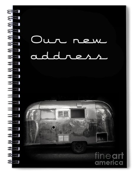 Our New Address Announcement Card Spiral Notebook by Edward Fielding