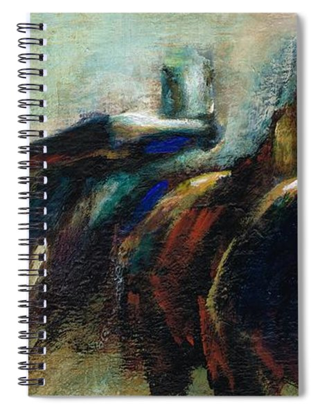 Out Of The Blue Into Reality Spiral Notebook