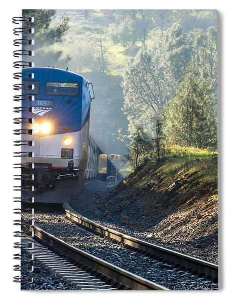 Spiral Notebook featuring the photograph Out Of The Mist by Jim Thompson
