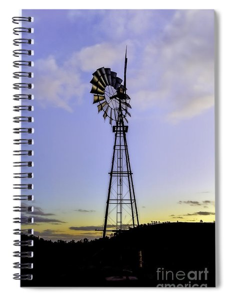 Outback Windmill Spiral Notebook