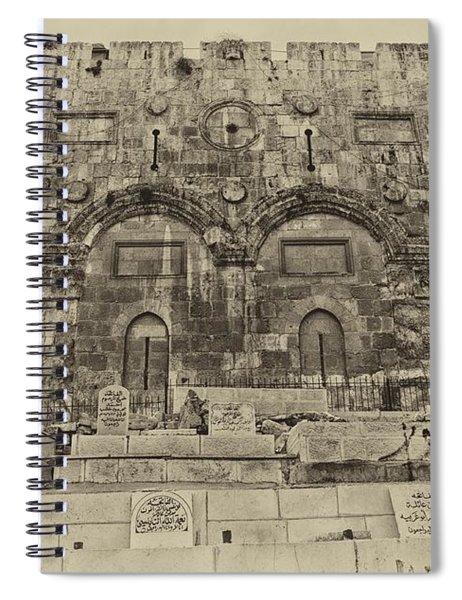 Outside The Eastern Gate Old City Jerusalem Spiral Notebook
