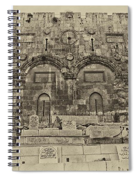 Outside The Eastern Gate Old City Jerusalem Spiral Notebook