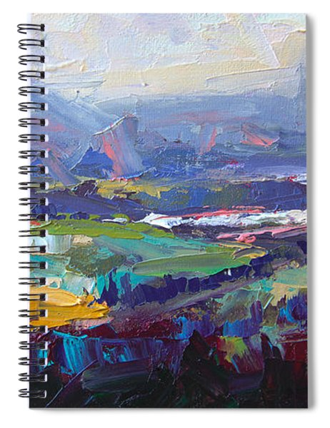Overlook Abstract Landscape Spiral Notebook